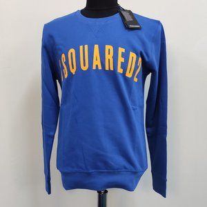 Dsquared2 Bright Navy Blue Front Written Sweat